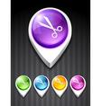 scissor icon vector image