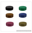 Set of Hockey Puck on White Background vector image