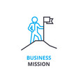 business mission concept outline icon linear vector image