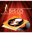 Disco club poster design vector image
