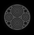 abstract radial pattern made of gears vector image
