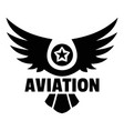 aviation logo simple style vector image