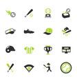 baseball color icon set vector image