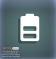 Battery half level Low electricity icon symbol on
