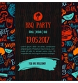 BBQ opening party announcement Doodle hand-drawn vector image vector image