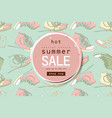 best summer sale sneakers banner vector image