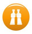 binoculars icon orange vector image vector image