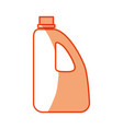 bottle plastic object vector image vector image