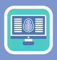 brain computed tomography ct mri checkup vector image vector image