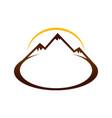 brown mountain landscape sign symbol design vector image