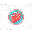 check line icon approved tick sign vector image vector image