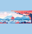 chinese landscape cartoon vector image