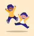 cute little children jumping avatar character vector image