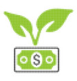 eco startup gain halftone icon vector image