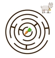 Game labyrinth find a way goat vector image vector image
