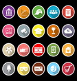 General online flat icons with long shadow vector image vector image