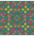 Geometric pattern with autumn leaves vector image vector image