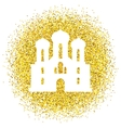 golden background with glitter vector image