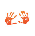 hand paint print set isolated white background vector image