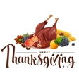 Happy Thanksgiving lettering text Rich harvest of vector image vector image