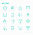 hospital thin line icons for doctors notation vector image