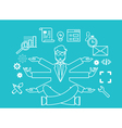 Human resources and self-development vector image vector image