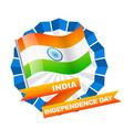 indian flag label vector image