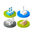 isometric 3d icon city buildings for web vector image