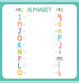 join each capital letter with the lowercase vector image vector image