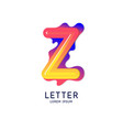 letter z latin alphabet display vector image