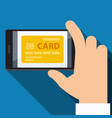 mobile payments from credit card flat design vector image vector image