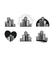 modern city logo skyscraper building house vector image
