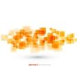 Orange shiny squares technical background vector image