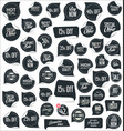premium quality modern black labels collection vector image