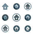 Real estate icons set realty theme symbols collec vector image vector image