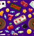 realistic casino gamble pattern vector image vector image