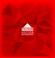 red polygon abstract background vector image
