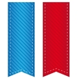ribbon bookmark vector image vector image