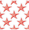 sea star pattern 2 vector image vector image