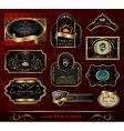 Set black gold framed label