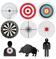 Set of Targets and Dummies vector image