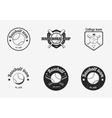 set vintage black and white baseball vector image vector image
