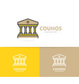 simple building with columns logo design template vector image