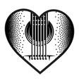 stylish monochrome plectrum for guitar vector image vector image