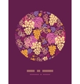 Sweet grape vines circle decor pattern background vector image vector image