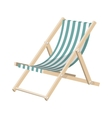 the striped sunchair isolated over white vector image vector image