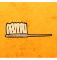 Tooth Brush Cartoon vector image