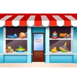 Toys shop window vector image