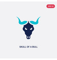 two color skull a bull icon from culture vector image
