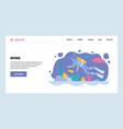 web site gradient design template scuba vector image